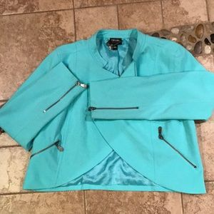 Ladies Large Suit Coat / Jacket / Blazer Teal